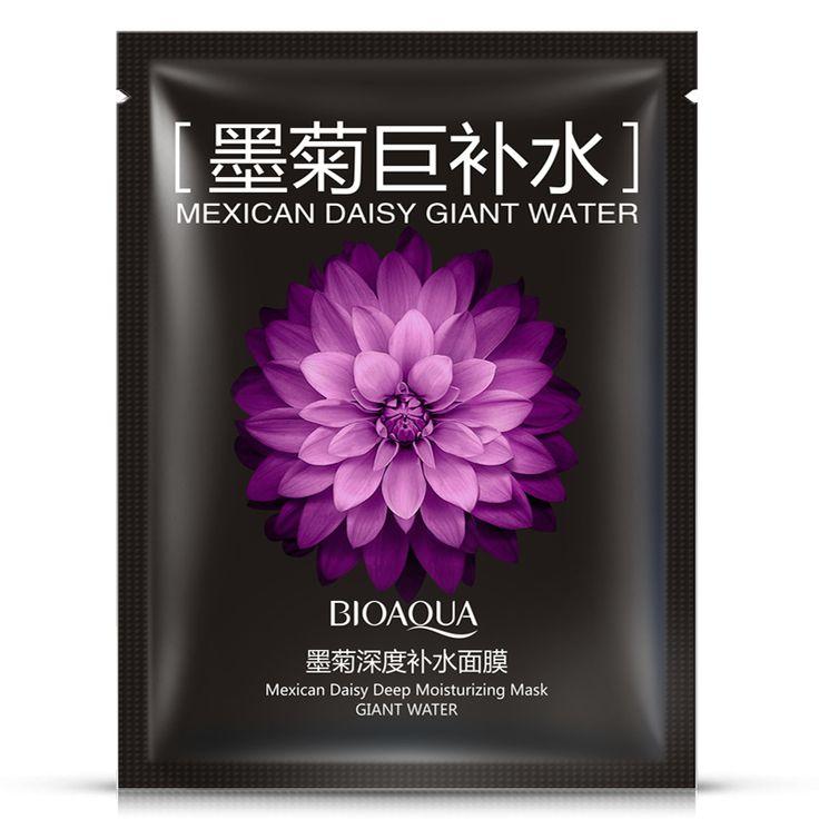 BIOAQUA Black Chrysanthemum Face Mask Super Hydrate Deep Moisture Nourishing Autumn Winter Woman/Man Oil Control Acne Treatment