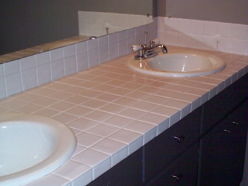 Painting tile countertops