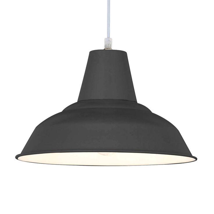 MEG - Lampa wisząca Metal Szary/Biały Śr.28cm Spotlight