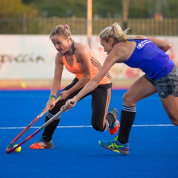 Battling for possession, the SA Women's Hockey team make us proud.