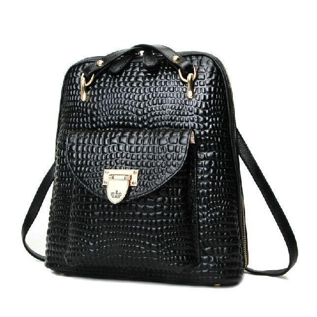 Mochilas de cuero original para notebook bolsas de chicas negras [AL93026] - €66.38 : bzbolsos.com, comprar bolsos online