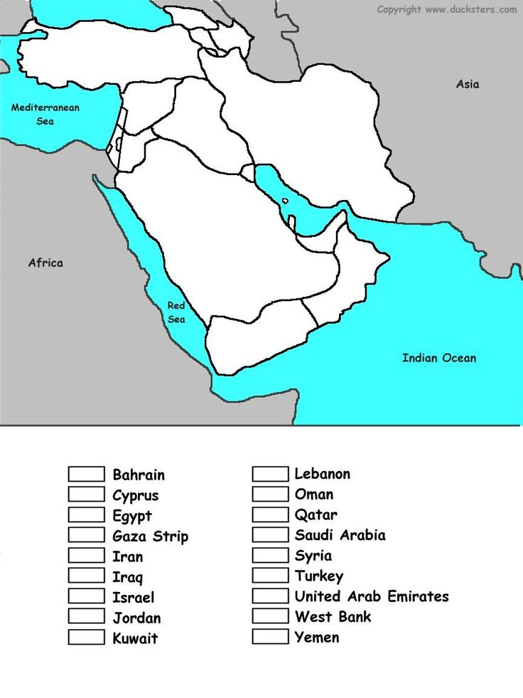 Geography for Kids: Middle Eastern - flags, maps, industries, culture of the Middle East