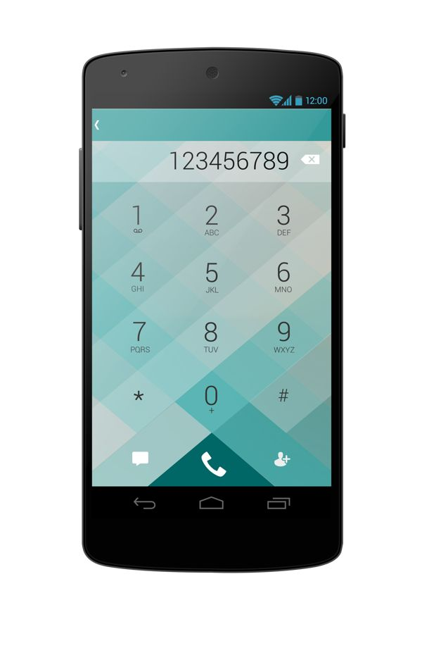 Android dialer UI Concept