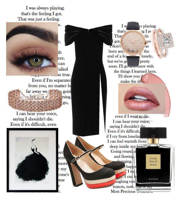 """""""Little Black Dress"""" by spookie1 on Polyvore featuring Allurez, Emilio De La Morena, Valentino, Avon, River Island and Jessica Carlyle"""