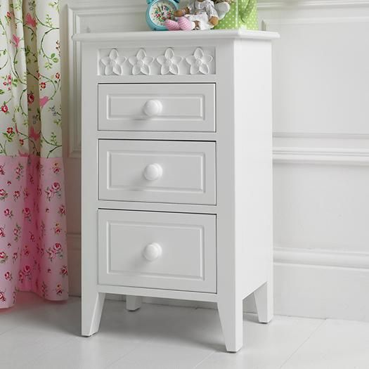 Daisy Brambles Bedside Table In Angel White. Other Colours Available. See  Our Website For