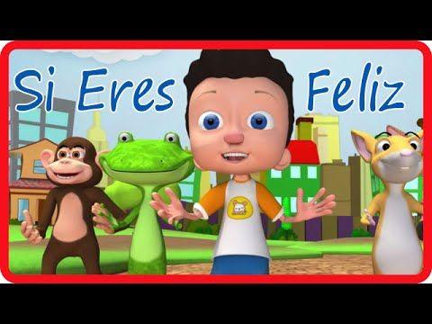 Si Eres Feliz y lo Sabes - Canciones Para Ninos .es - YouTube
