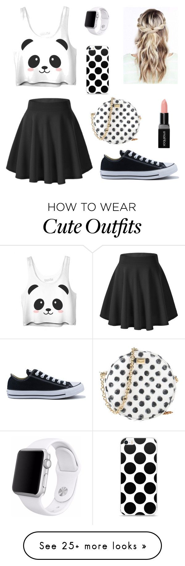 """""""Summer Outfit (dressy)"""" by meganiaco on Polyvore featuring Converse, Dolce&Gabbana, Smashbox and Apple"""