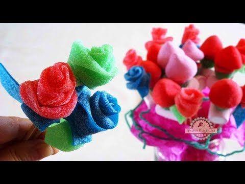 Rosas de chuches o gominolas. Candy roses. [San Valentín - Valentine's Day] - YouTube
