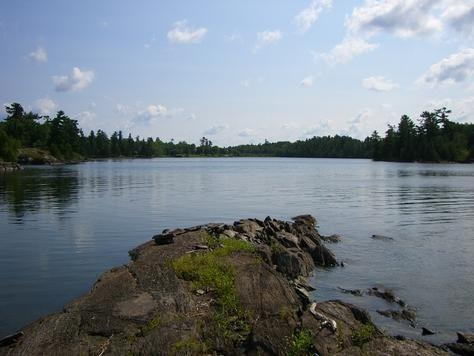 Typical view on Lake of the Woods near Kenora.