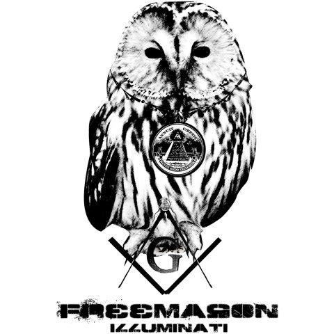 フリーメーソン・イルミナティ フクロウ    世界を影で操っていると言われている  秘密結社フリーメイソン、そしてイルミナティ。  フリーメイソン・イルミナティといえば1ドル札のフクロウ、  アメリカ合衆国議事堂のフクロウなどフクロウが大きく関わっている。  イルミナティはフクロウを、古来からシンボルとして重用してきており  「梟のように首をぐるっと360度回し、世間を常に監視している」という説もある。    そんな秘密結社フリーメイソン、そしてイルミナティのフクロウを中心としたスタイリッシュデザイン。  ヴィンテージ風のFreemason Illuminatiの英文字がさらに  秘密結社フリーメイソン、イルミナティのイメージを際立てています。