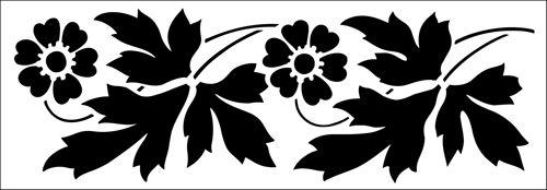 Flower stencil from The Stencil Library GENERAL range. Buy stencils online. Stencil code 57.