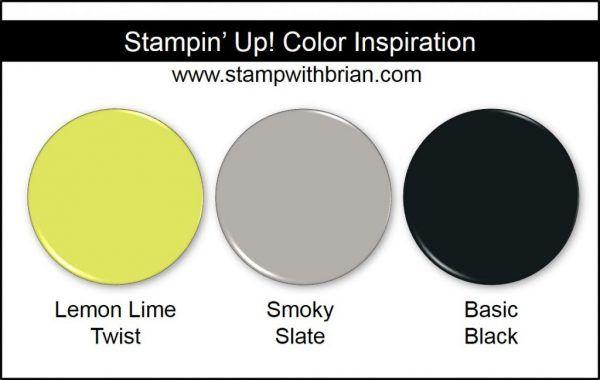 Stampin' Up! Color Inspiration: Lemon Lime Twist (New 2017-2019 In Color), Smoky Slate, Basic Black