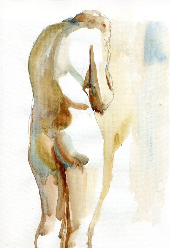 Helen Ström: Watercolor figure sketches