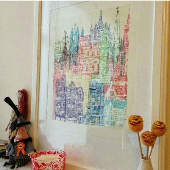 Edinburgh Towers framed!