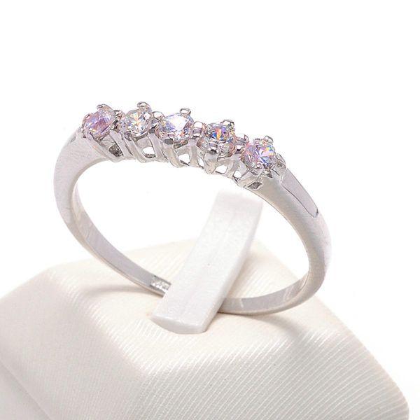 Δαχτυλίδι σειρέ λευκόχρυσο ζιργκόν Κ14  8506