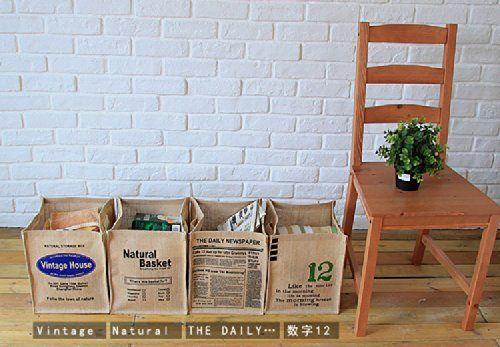 Amazon.co.jp: 英字 ストッカー 収納 麻 ジュート 2個セット インテリア 新聞 雑誌 野菜 食品 小物 タオル おもちゃ 工具 ガーデニング お掃除 おむつ ベビー 洗面 衣類 トイレ 玄関 生活雑貨: ホーム&キッチン