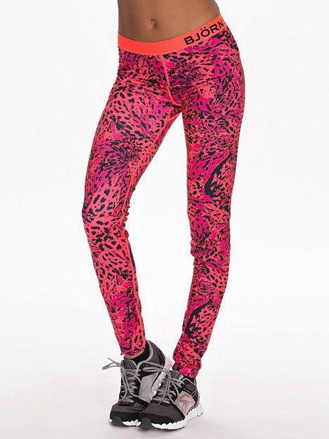 Wayan Leggings - Björn Borg - Leopard - Tights - Sports Fashion - Women - Nelly.com