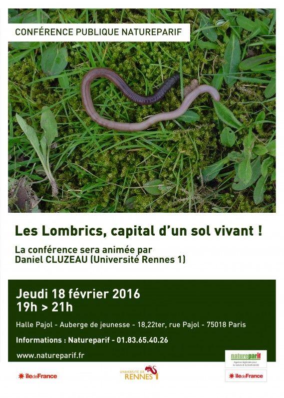 Conférence de Natureparif, le portail de la biodiversité sur les lombrics http://www.pariscotejardin.fr/2016/02/conference-de-natureparif-sur-les-lombrics/