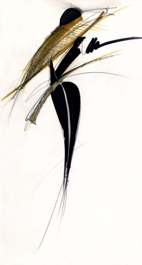 hermans Fashion Illutrations Chic Glamour Fondazione Gianfranco Ferré / Collections / Woman / Couture / 1989 / Spring / Summer