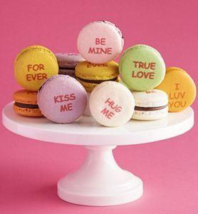 50 Valentine's Day Gifts For Her Under $50 - Dana's Bakery Valentine Conversation Macarons