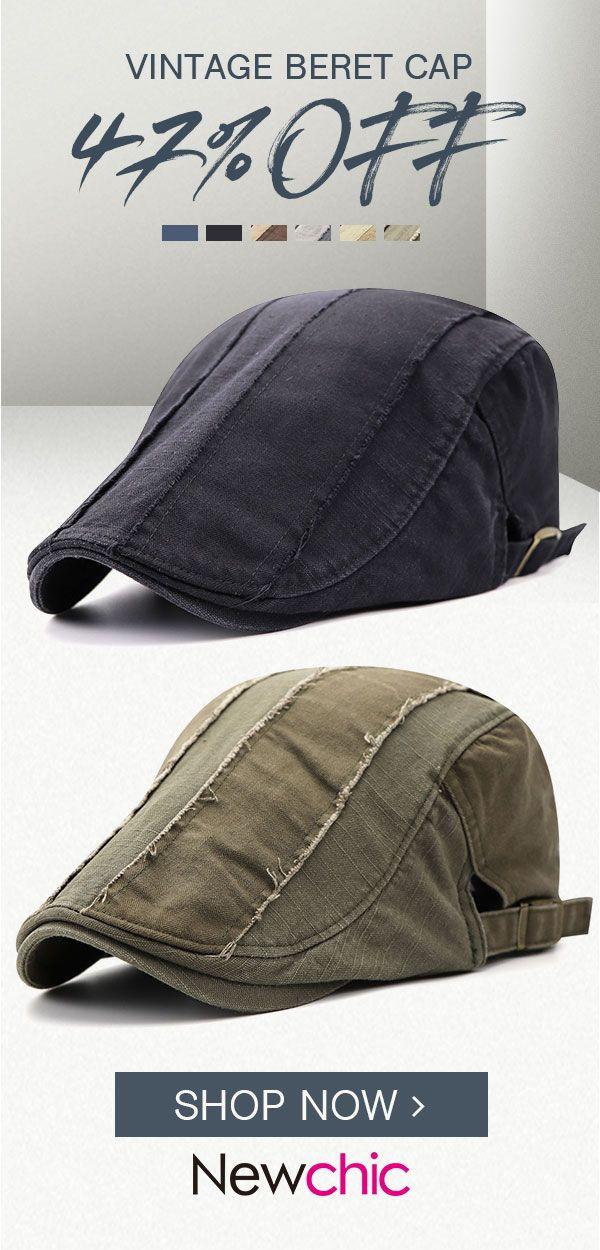 67a08979095fc Mens Vintage Vogue Adjustable Cotton Beret Cap  cap  outdoor  mensfashion