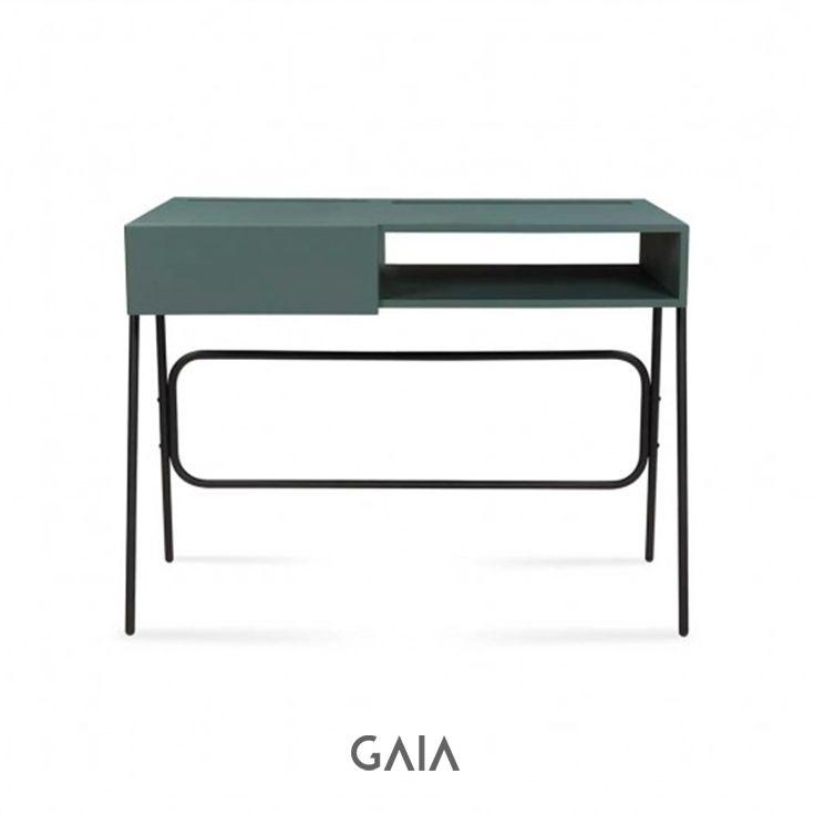 GAIA Design - Escritorio Calatea - Verde  #furniture #design #GAIADesign #Mexico #MueblesdeDiseño #interiorismo #arch #urban #green #trendy #trend #escritorio #homeoffice #office #work #oficinaencasa #study #estudio