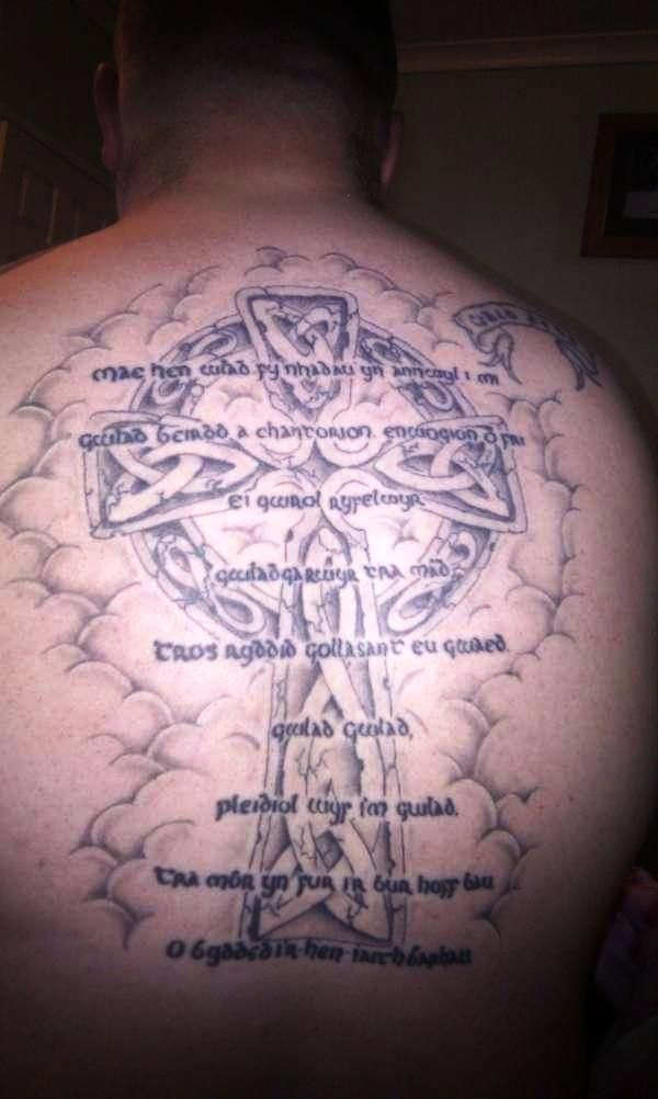 17 best images about cross tattoos on pinterest on back for Simple back tattoos for guys