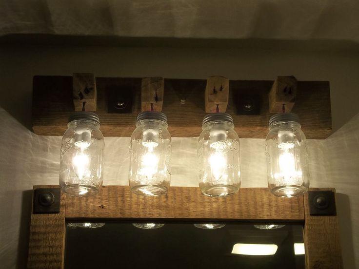 1000 ideas about farmhouse light fixtures on pinterest - Farmhouse bathroom vanity lights ...
