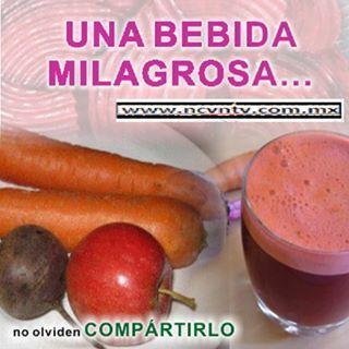 1 Remolacha  2 Zanahorias  1 Manzana  Es todo lo que se combina para hacer el jugo!!!!
