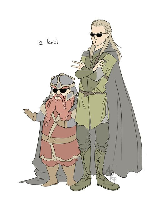 gimli and legolas ending a relationship