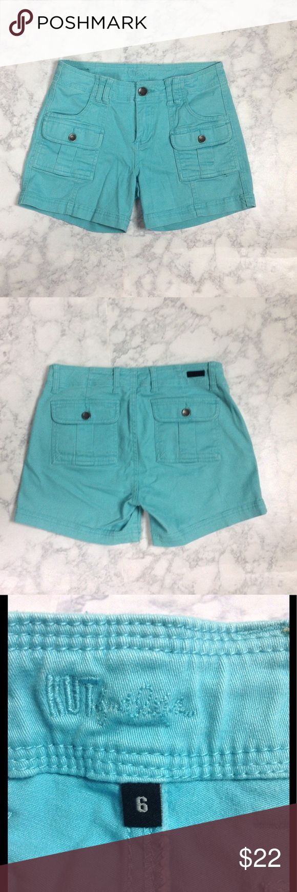 """Kut from the Kloth teal shorts size:6 Beautiful & comfortable teal colored soft cotton shorts. Waist: 32"""". Inseam: 4.5"""". Size: 6. EUC Kut from the Kloth Shorts"""
