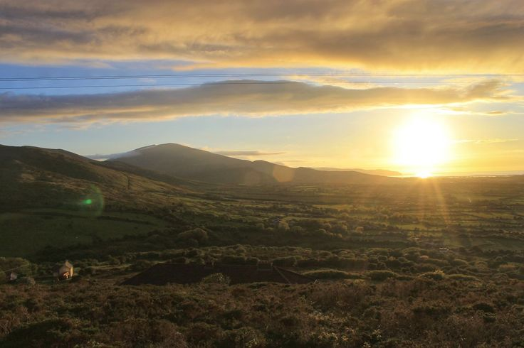 Sunset on the ring of Kerry.