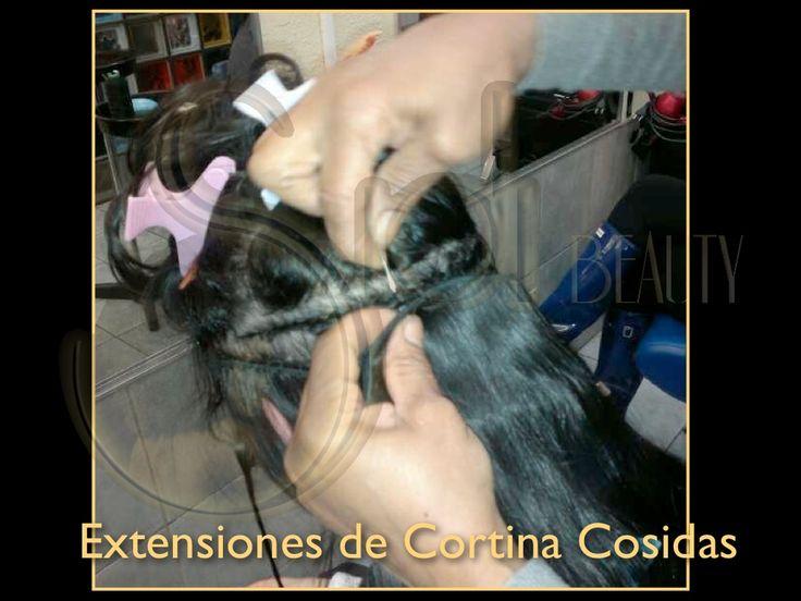 Extensiones cosidas, peluquería Sidi