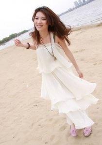 2012 nueva vestido de playa de gasa de estilo de Bohemia