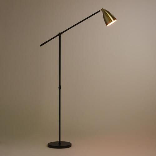 One of my favorite discoveries at WorldMarket.com: Brass and Black Articulating Dexter Floor Lamp