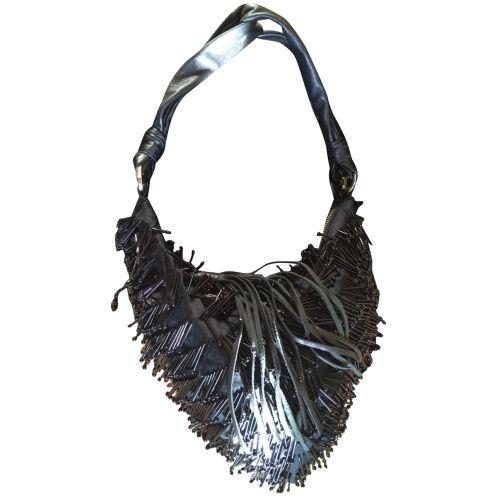 Borsa pochette gioiello Cesare paciotti da collezione baguette nera