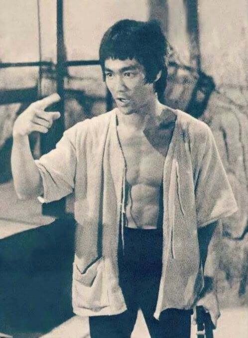On the set of Enter the dragon.