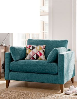 Armchair...of course I love this!  It's called  a Chelsea Love Seat and it's in Teal!!! #teal #chair