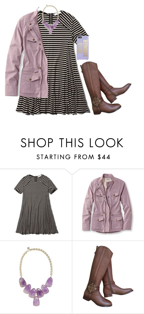 """""""Exact #ootd tomorrow."""" by kierstinmoyers ❤ liked on Polyvore featuring Abercrombie & Fitch, L.L.Bean, Kendra Scott, Tory Burch, Kate Spade, women's clothing, women, female, woman and misses"""