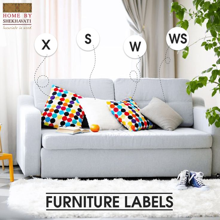 "FURNITURE LABELS : We have gathered some information for you regarding what they mean and what to do with them. Code X : Do not use any water or solvent based cleaner. Code S :  The upholstery with tag ""S"" means that do not saturate and DO NOT USE WATER. Spot clean only with a water-free cleaning solvent.  Code W :  Spot clean only with water base cleaner. Do not over wet. Code WS : When cleaning a spill, blot immediately to remove spilled material. Do not use hot water."