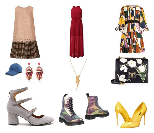 """""""22"""" by drile on Polyvore featuring Dolce&Gabbana, Madewell, Edge Only, Dr. Martens and Roksanda"""