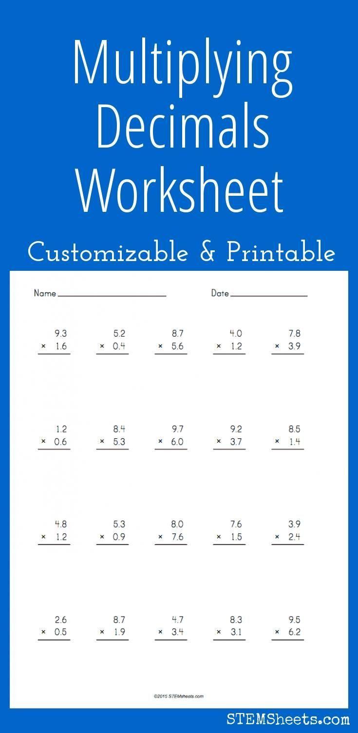 5 Free Math Worksheets Sixth Grade 6 Decimals Multiplication Multiplying Decimals By D In 2020 Multiplying Decimals Worksheets Decimals Worksheets Free Math Worksheets