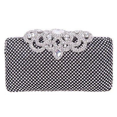 Fawziya® Crown Clutch Purse Bling Hard Box Rhinestone Crystal Clutch Bag