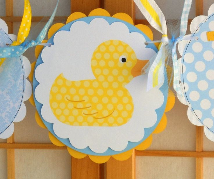 Yellow Rubber Duckies Baby Shower Invitations | Baby Shower Banner Rubber  Ducky Baby Boy By OneFantasticParty
