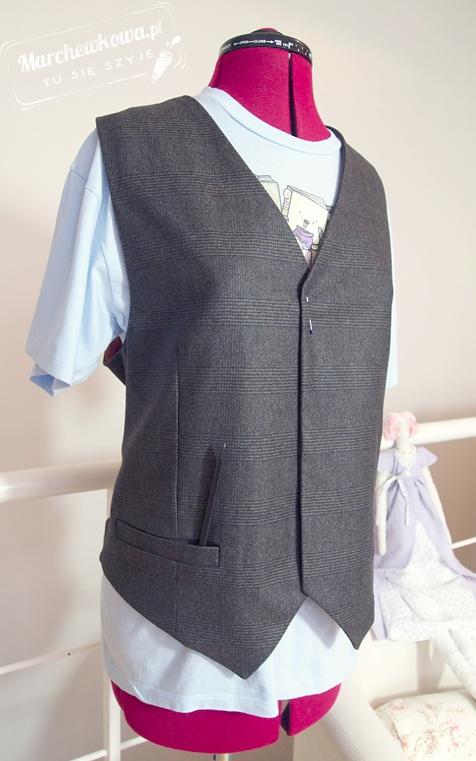 Wool Men S Vest 136 Burda 4 2013 Http Www Marchewkowa Pl Vest Dress Mens Wool Vest Mens Vest