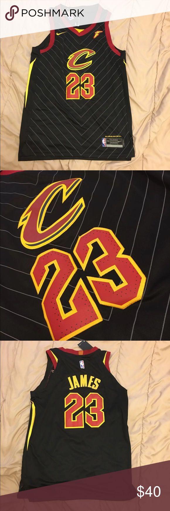 Nike CLE Cavaliers LeBron James Jersey Sz L New w Tags Nike Cleveland Cavaliers LeBron James Jersey Men's Adult Size Large Nike Shirts Tees - Short Sleeve