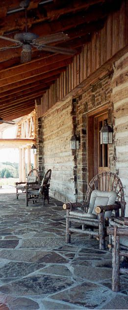 Great stone porch for Relaxing!