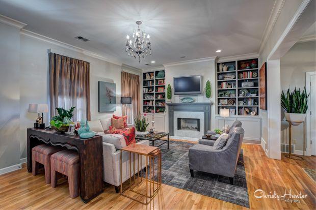 Living room design by Gary Taylor.  Memphis, TN