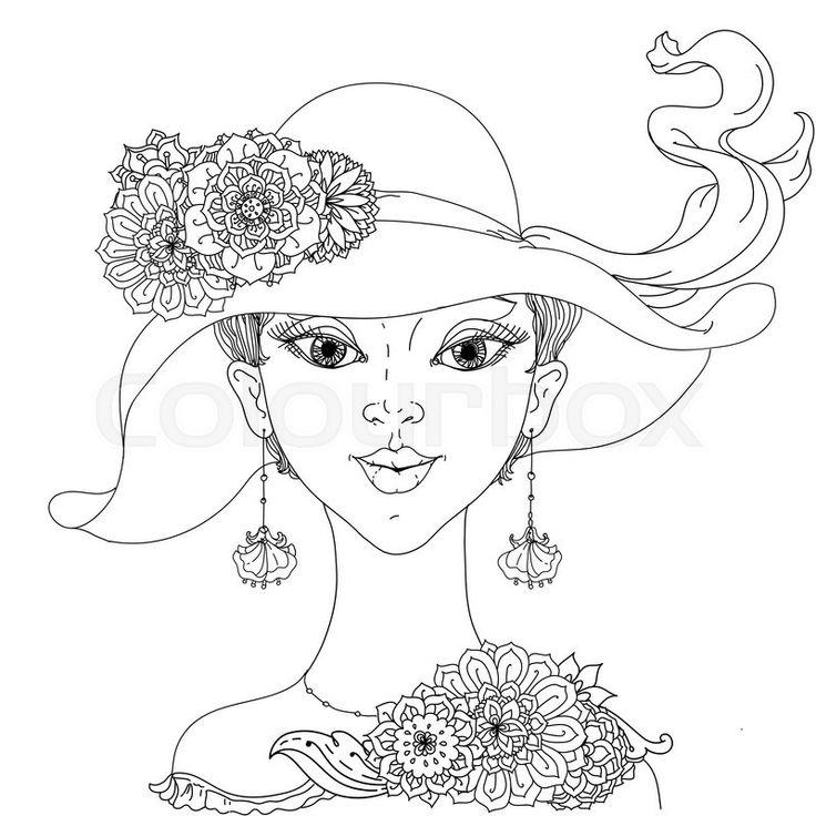 203 mejores imágenes de woman en Pinterest   Libros para colorear ...