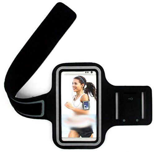 """myLife Classic Black {Rain Resistant Velcro Secure Running Armband} Dual-Fit with Key Slot Jogging Arm Strap Holder for NEW Samsung Galaxy S6 """"All Ports Accessible"""" myLife Brand Products http://www.amazon.com/dp/B00T9YF602/ref=cm_sw_r_pi_dp_tm0avb0MP1JXS"""